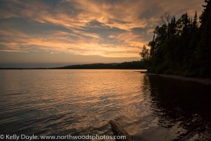Two Island Lake Sunset, Superior National Forest