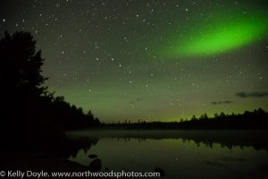 Big Dipper, Aurora Borealis, Shooting Star