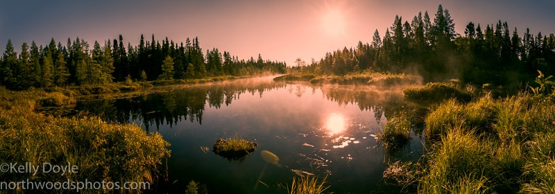 Junco Lake Sunrise Panorama